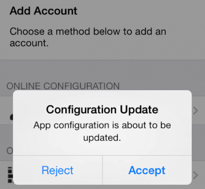 Configuration Update