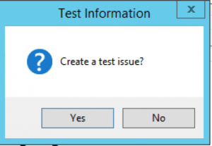 create a test issue